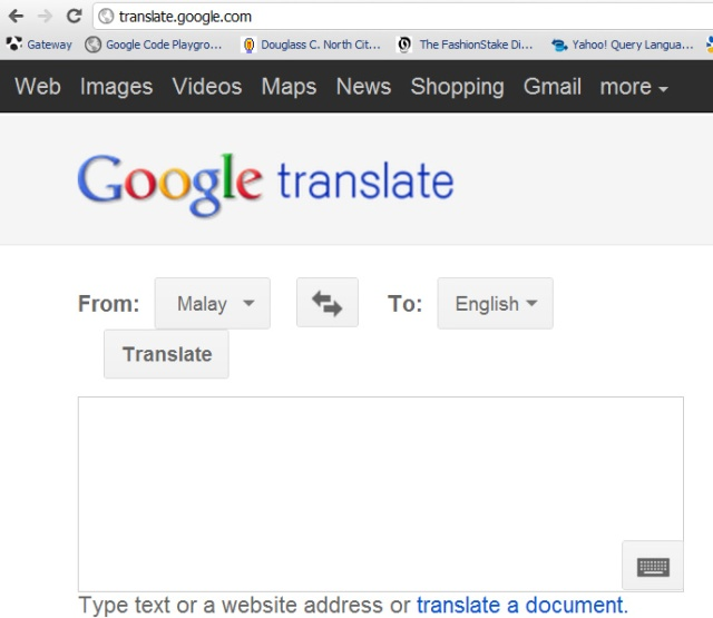 Translate Bm To English